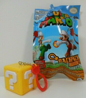 Nintendo Super Mario QUESTION BLOCK KEYCHAIN Backpack Buddies Blind Bag Series 2