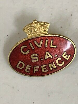 WW2 South Australia Civil Defence Badge Pin Red