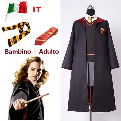 Harry Potter Grifondoro Mantello Sciarpa Cappello Guanti Cravatte Cos Costume IT