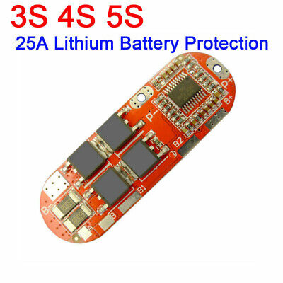 US 25A 3S/4S/5S Li-ion Lithium Battery BMS PCB Protection Board Balance Board