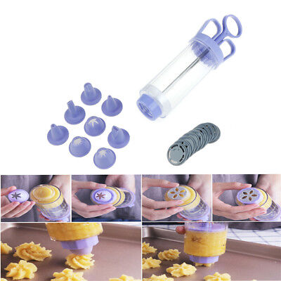 18pcs/set Cookie Biscuit Machine Cookie Presses Icing Sets Nozzles Cake Tools~SV
