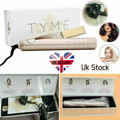 TYME Iron Pro 2 In 1 Ceramic Twist Straightening Iron Hair Curling Iron UK PLUG