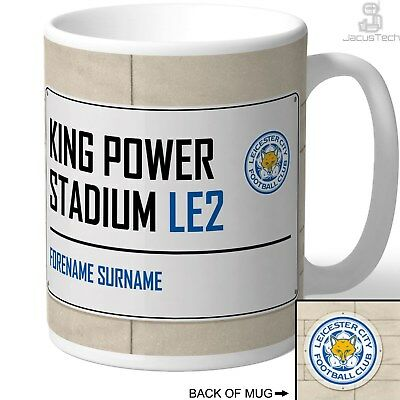 LEICESTER CITY Mug / Cup, PERSONALISED. Football Fan Christmas Gift Merchandise