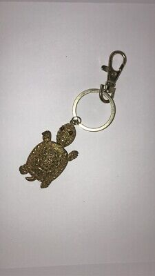 Cute Ladies Girls Turtle Tortoise Heart DIAMANTE Keyring Bag Charm KeyChain Gift