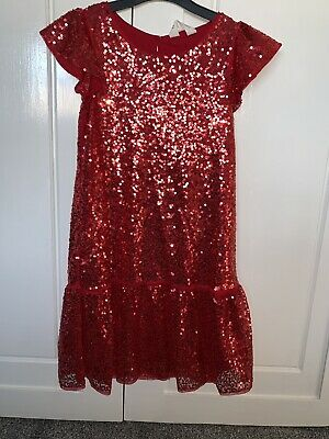 Beautiful H&M Red Sequin Dress. Ideal Christmas and parties. Age 7-8. Worn Once