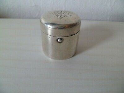 Antique English Sterling Silver - Traveling Inkwell By Samson Mordan & Co London