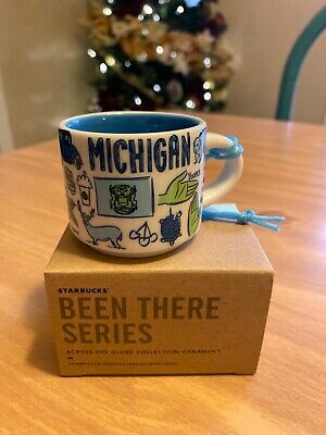 Starbucks Michigan  Been There 2 Oz. Christmas Ornament Demi Mug~New In Box