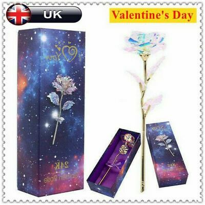 Valentine's Day Gift 24K Gold Plated Galaxy Rose to Girlfriend Wife Love Present