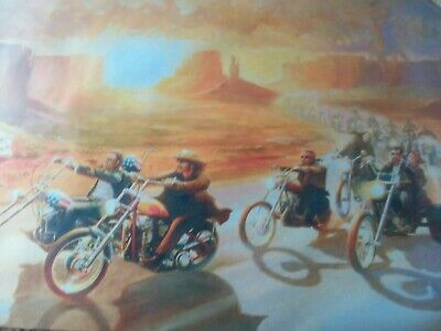 Easy Rider oil painting 20x16 unframed sons of anarchy harley davidson motorbike