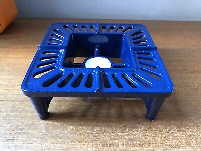 ROBERT WELCH Table Heater 172mm SQUARE Blue UNUSED, Victor Cast Ware