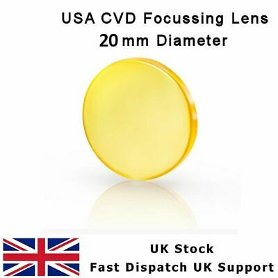 "ZnSe FOCUS LENS 20 mm DIA FL 50.8 mm 2""  USA CVD MENISCUS CO2 LASER CUTTER"