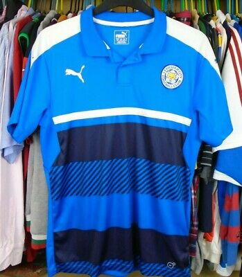 Leicester City Puma Football Soccer Training Polo Shirt Jersey Top Large Adult