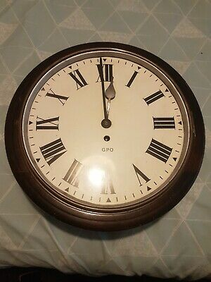 "Genuine Gpo,  12"" Dial,  Clock. Gpo On Dial. Vintage Antique Clock"