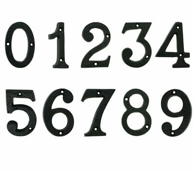 Black Antique Numerals Cast Iron Large Door Numbers 0 - 9 Black Country Foundry