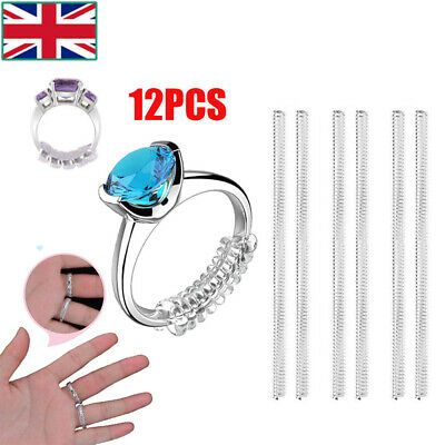 12pcs Ring Size Reducer Resizer Adjuster Ring Size Clip Guard Invisible Design