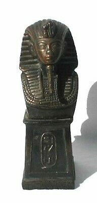 "Antique ""Egyptian Revival"" Metal King Tut Bust"