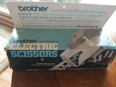 Vintage Brother Automatic Electric Scissors Tested