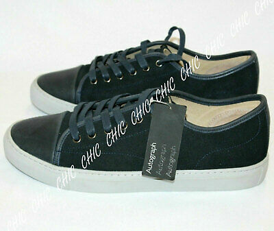 MENS NAVY LEATHER COTSWOLD LACE-UP CASUAL TRAINERS PUMPS COMFY SHOES SIZES 9-11