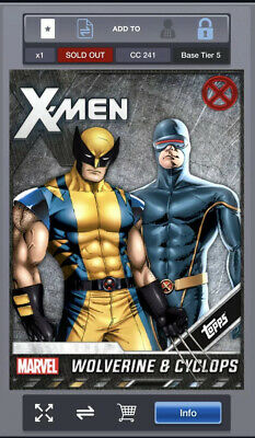 [DIGITAL] Topps Marvel Collect Wolverine And Cyclops X-Men Base Tier 5 Award