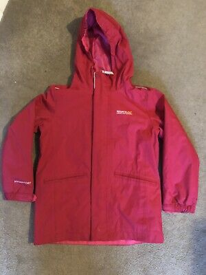 Regatta Girls Fleece Lined Hooded Coat Age 7-8 Years