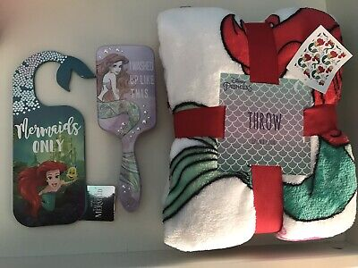 Disney Little Mermaid Throw Blanket, Disney Princess Ariel & Brush & Door Handle