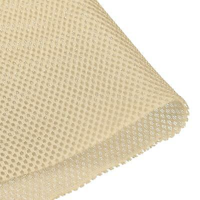 Speaker Grill Cloth 1x1.45M Polyester Fiber Stereo Mesh Fabric Beige