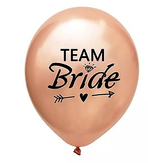 8 x Rose Gold TEAM BRIDE  BALLOONS-Rose Gold Hen Do/Party Dec CHEAPEST ON EBAY