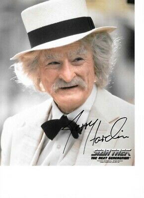 Star trek Hand signed Autograph Jerry Hardin As Mark Twain