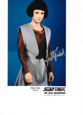 Star trek Hand signed autograph Hallie Todd As Lal