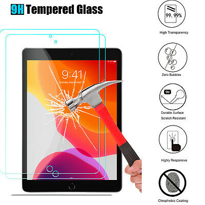"""For Apple iPad 10.2"""" (7th Gen. 2019) Tablet Film Tempered Glass Screen Protector"""