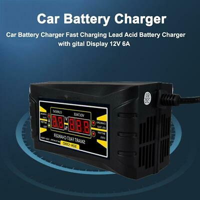 Smart Battery Charger 6A 12V Automatic Electric Car Car Lead-acid Battery Batter