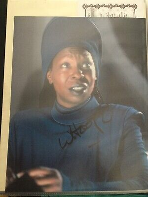 Star Trek hand signed Autograph Of Whoopi Goldberg As Guinan