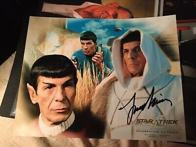 Star trek hand signed Autograph Leonard Nimoy As Spock
