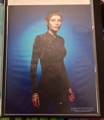 Star Trek hand signed autograph Jolene Blalock As T'pol
