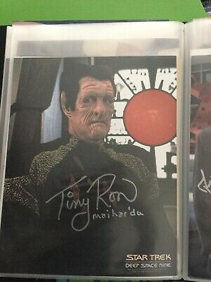 Star Trek hand signed autograph Tiny Ron As Mahardu