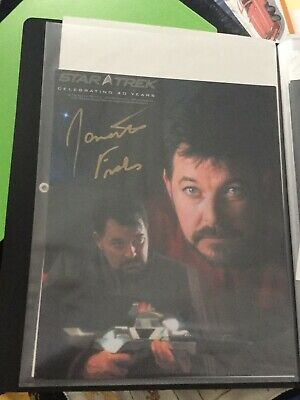 Star Trek hand signed autograph Jonathan Frakes As Riker