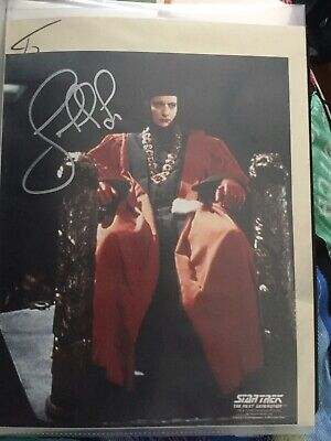 Star Trek hand signed autograph John De Lancie As Q