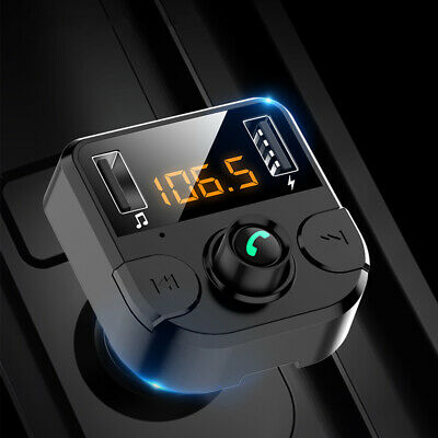 Handsfree Wireless Bluetooth Car FM Transmitter MP3 Player Dual USB Charger Kit