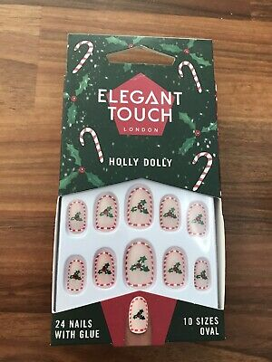 Elegant Touch London Festive False Nails Holly Dolly Christmas