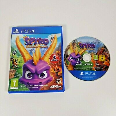 Spyro Reignited Trilogy - PS4 - Sony PlayStation 4, 2018 VGC 3 Games Remastered
