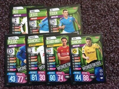 TOPPS MATCH ATTAX CHAMPIONS LEAGUE - x 7 WONDERKIDS CARDS