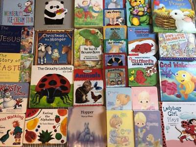 30 Baby Board Books Lot Picture Bedtime Stories Daycare Preschool Toddler
