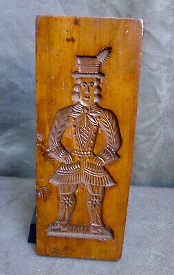 VERY Nice Antique wood carving Dutch speculaas cookies board 19th. century