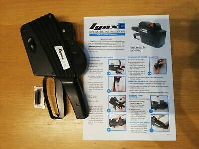 Lynx C-8N Price Gun - Used with instructions and spare ink