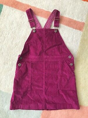 girls john lewis cord pinafore- age 9