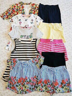 Girls Summer Bundle Age 7-8 Tops Shorts George Next TU ++