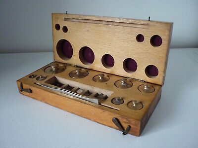 Vintage - Antique Boxed Set Of Brass Balance-Scale Weights