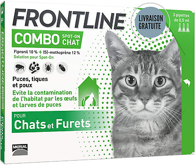 Frontline Combo Chat Anti-puces pour Chat - Vert
