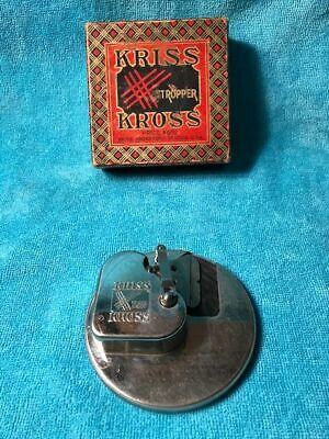 Vintage Kriss Kross Stropper Safety Razor Blade Sharpener In The Original Box