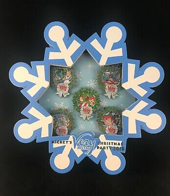 New Disney Parks Mickey's Very Merry Christmas Party 2018 5 Pin Set LE 1000